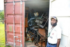 DIK Container arrive in Bulolo
